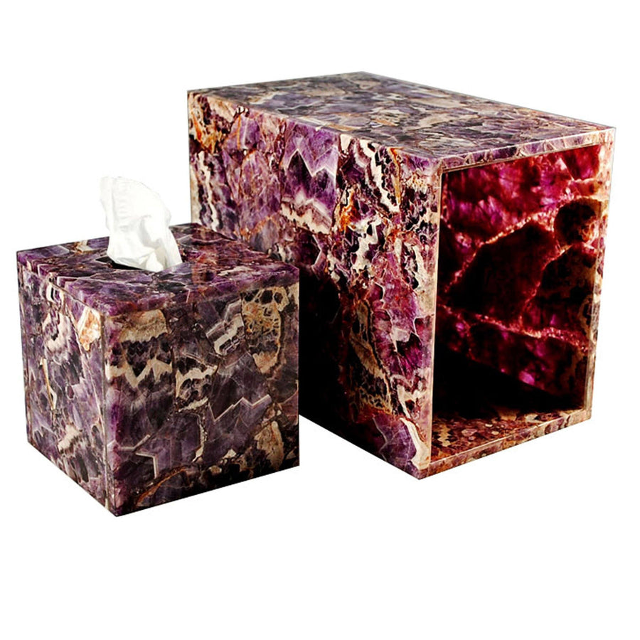Luxury purple semi precious wastebasket - amethyst