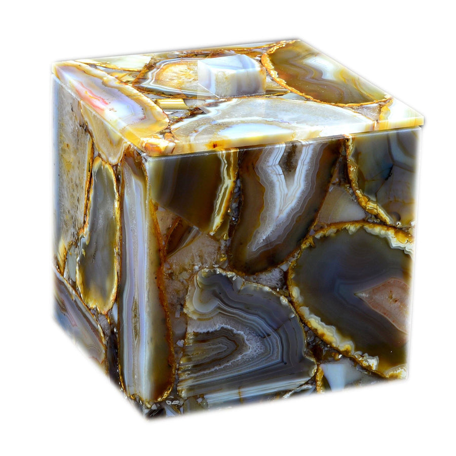 Agate Gemstone Container - Taj Luxury Gemstone