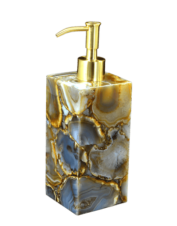 Agate Lotion Pump Dispenser - Taj Luxury Gemstone