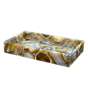 Agate Semi Precious Vanity Tray - Taj Luxury Gemstone