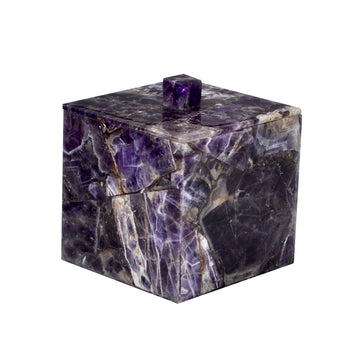 Luxury purple container - amethyst