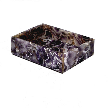 Luxury purple soap dish - amethyst