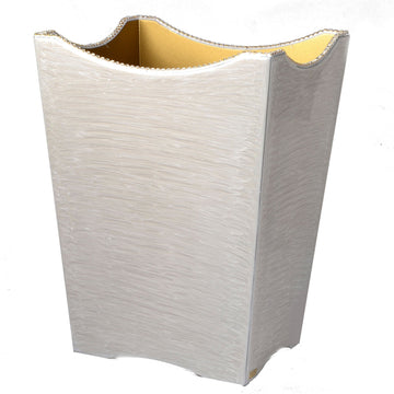 Audrey Scalloped Wastebasket
