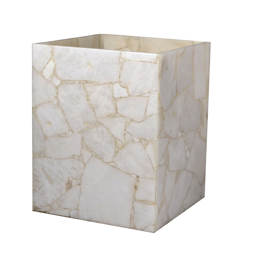 white wastebasket - quartz designer gemstone