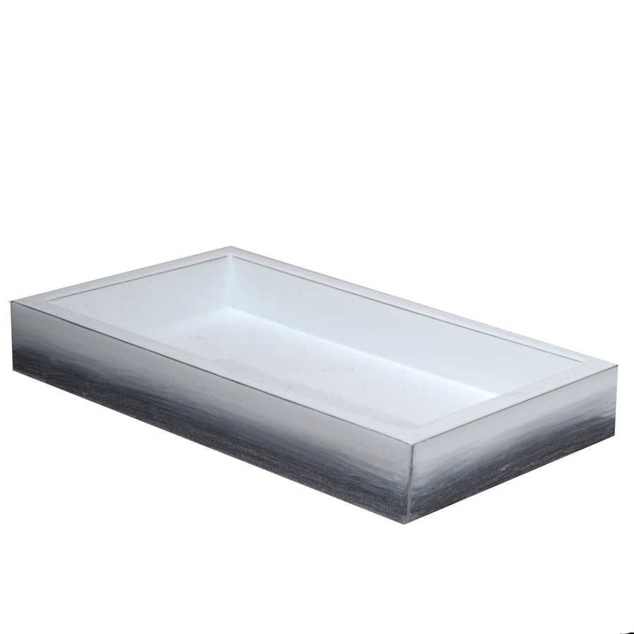 Designer grey bath tray - ombre