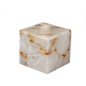 Rock Crystal w/gold Container