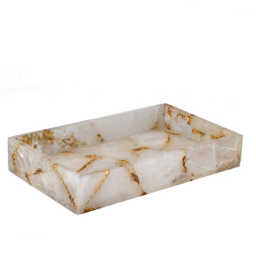 Rock Crystal w/gold Tray