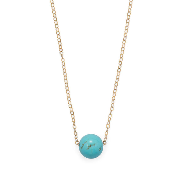 "16"" + 2"" Gold Filled LMagnesite Necklace"
