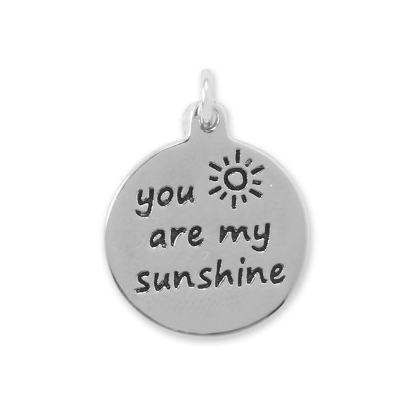 "Oxidized ""You Are My Sunshine"" Charm"