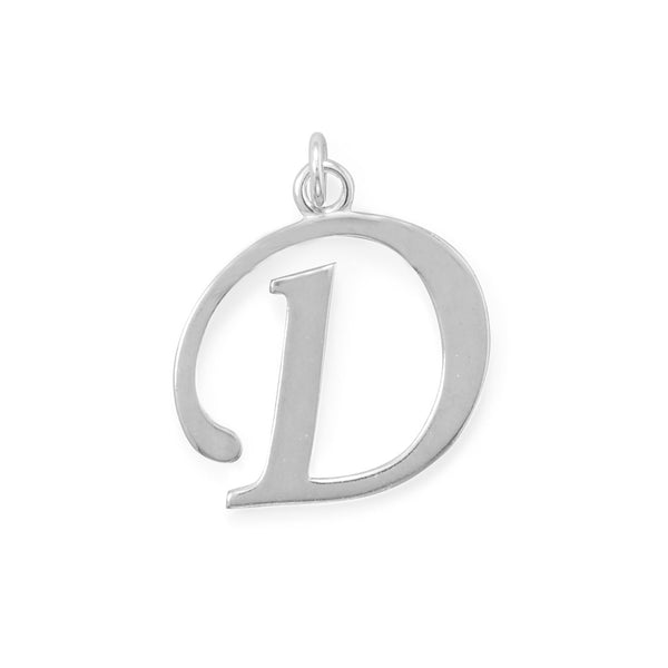 Polished Letter D Initial Pendant