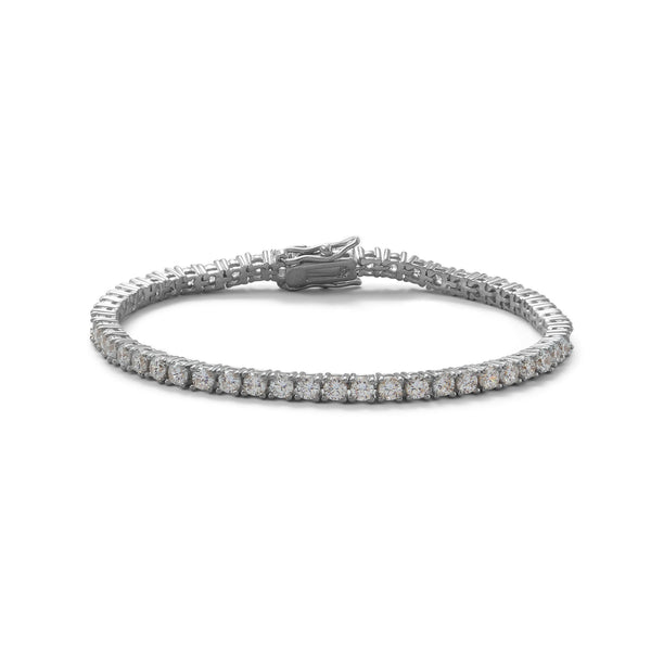 "7"" Rhodium Plated 3mm CZ Tennis Bracelet"