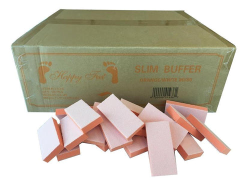 Happy Feet Slim Buffer Orange White 80/100