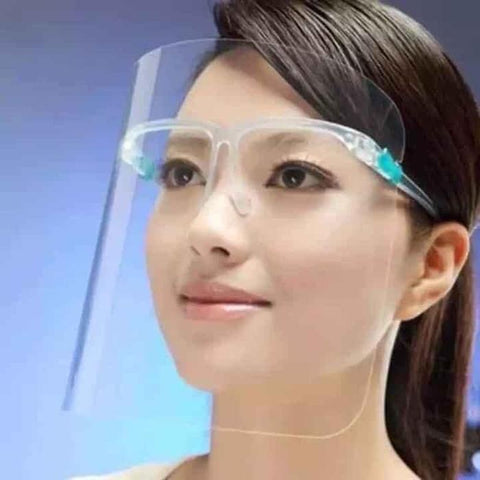 Face Shield with Glasses Frame Bag/5pcs