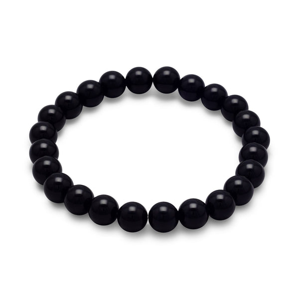 Black Onyx Bead Stretch Bracelet