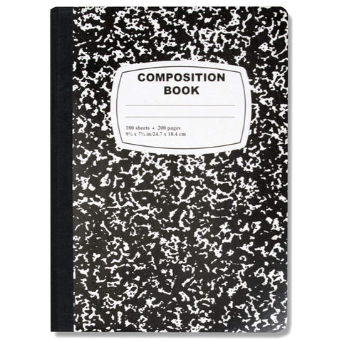 Composition Book - 100 Sheets - Black Only