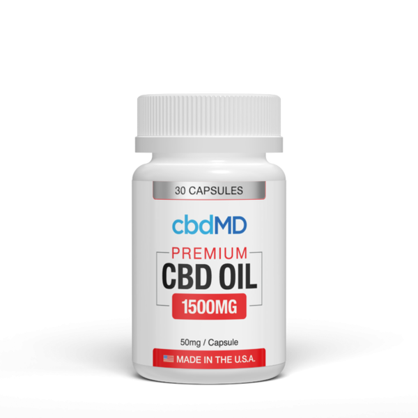 CBD Oil Capsules 30 count 1500mg