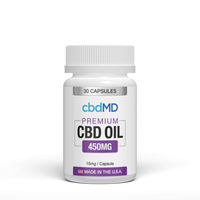 CBD Oil Capsules 30 count 450mg NO THC
