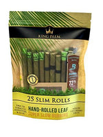 King Palm Slim Size Natural Pre Wrap Palm Leafs 25 Pack
