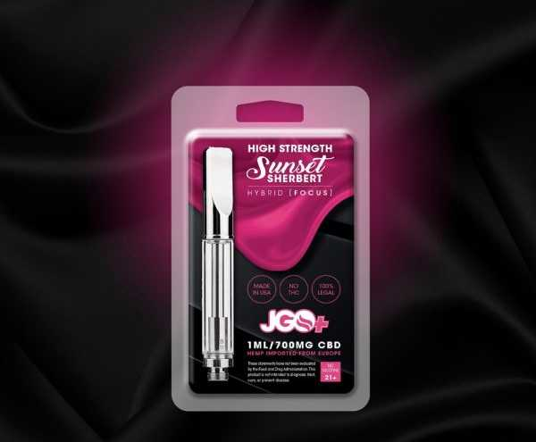 Sunset Sherbert Focus 700mg CBD Vape Cartridge