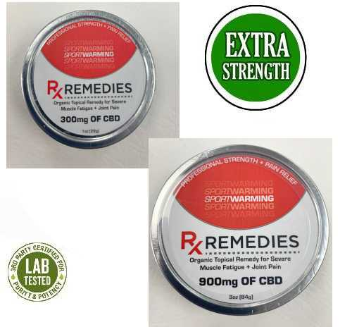 CBD Sports Rub 300mg or 900mg