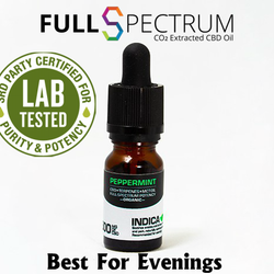 CBD Oil 500mg Medical Grade Full Spectrum Peppermint Indica Relaxing & Sedating