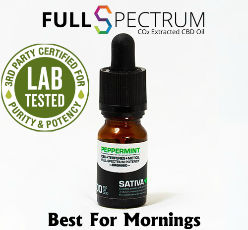 CBD Oil 500mg Medical Grade Full Spectrum Peppermint Sativa – Elating & Energizing