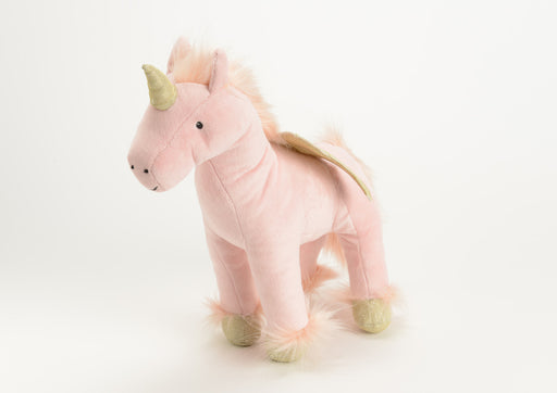 Peluche Licorne Rose et Or