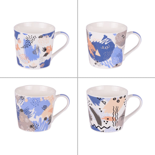 mug 35 cl - collection Street - design graphique - Table passion - coffret 4