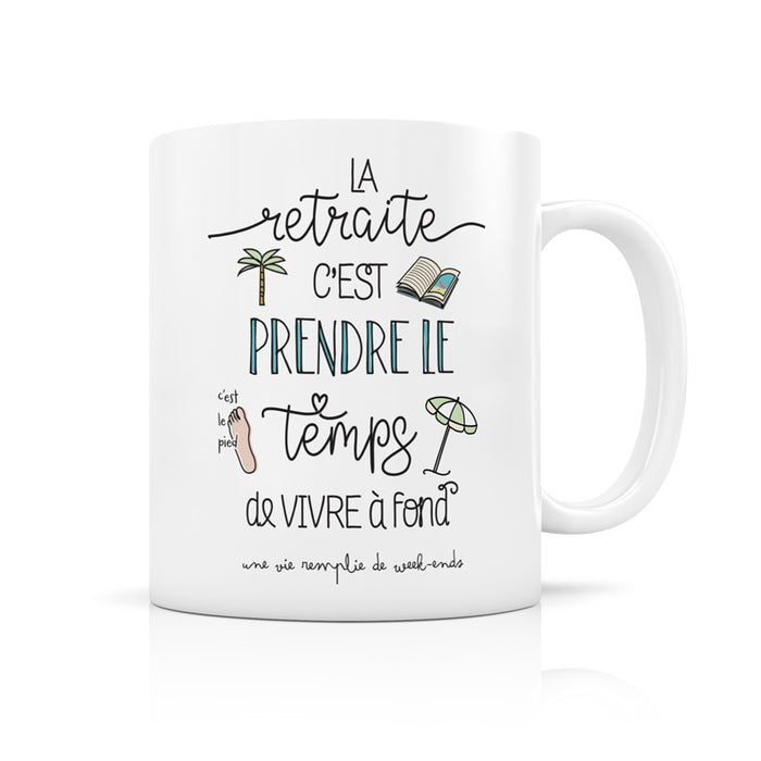 mug retraite - CREA BISONTINE - LABEL TOUR