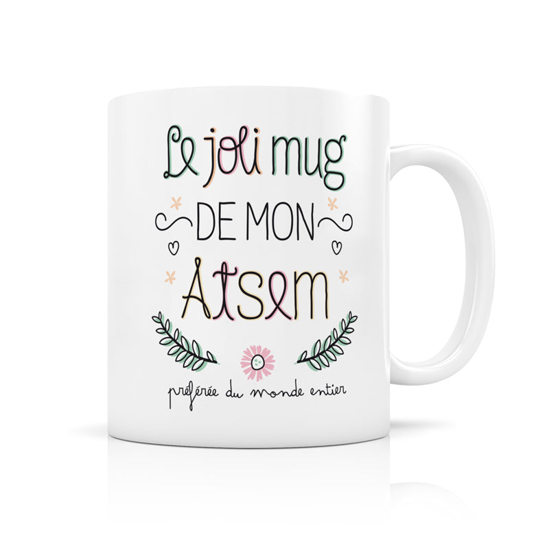 mug ATSEM - CREA BISONTINE - LABEL TOUR