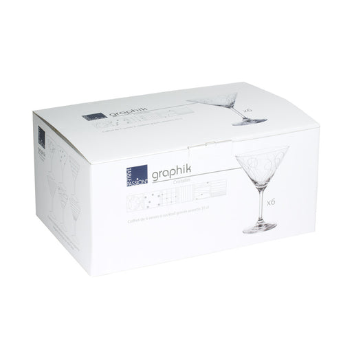 Verre à cocktail Graphik (lot de 6)