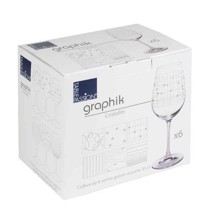 Verre à vin 35cl Graphik (lot de 6)