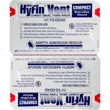 Load image into Gallery viewer, HyFin Vent Compact Chest Seal Twin Pack - Urban Medical Gear
