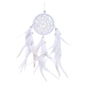 Open image in slideshow, White Crochet Dream Catcher