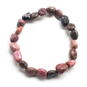 Open image in slideshow, Rhodonite Bead Bracelet