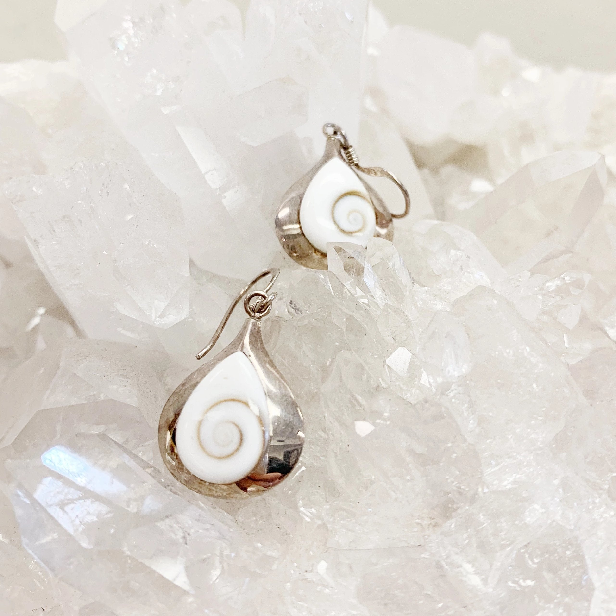 Mother Of Pearl Swirl Earrings