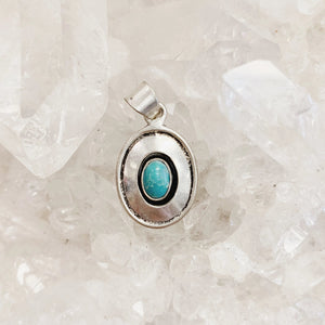 Open image in slideshow, Larimar Plate Silver Pendant