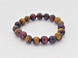 Open image in slideshow, Tiger Eye Bead Bracelet