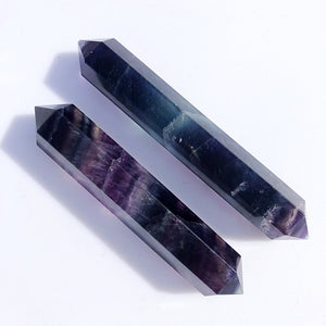 Open image in slideshow, Double Terminated Fluorite Point Wands