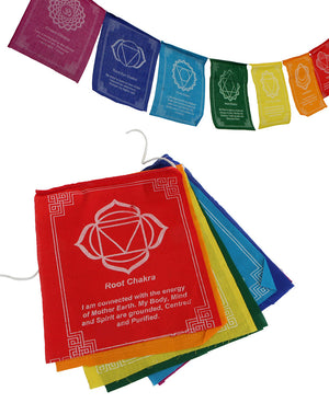 Open image in slideshow, Chakra Prayer Flags