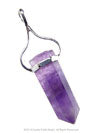 Amethyst Wand Point Silver Pendant