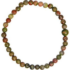 Open image in slideshow, Unakite Bead Bracelet