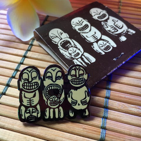 PinTiki Cannibal Trio Pin and matchbook