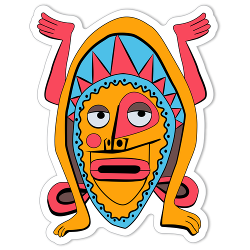 Enchanted talking Tiki Sticker