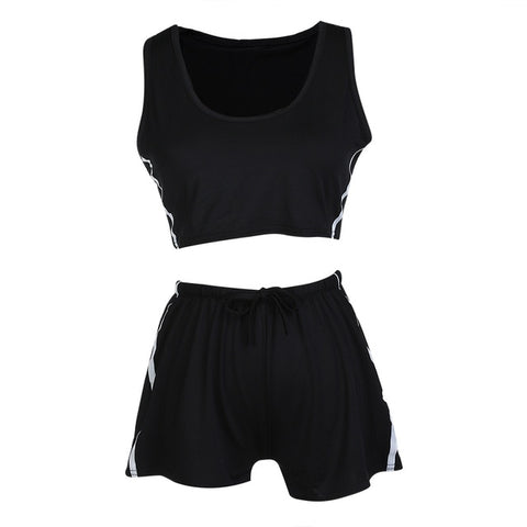 Women's Sleeveless Shorts Set