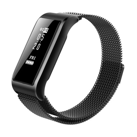 B29 Metal Strap Smart Heart Rate Monitor Sports Band