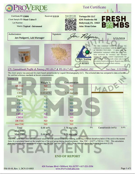 Fresh Bombs 50mg CBD Mani Cubes Nail Strengthener