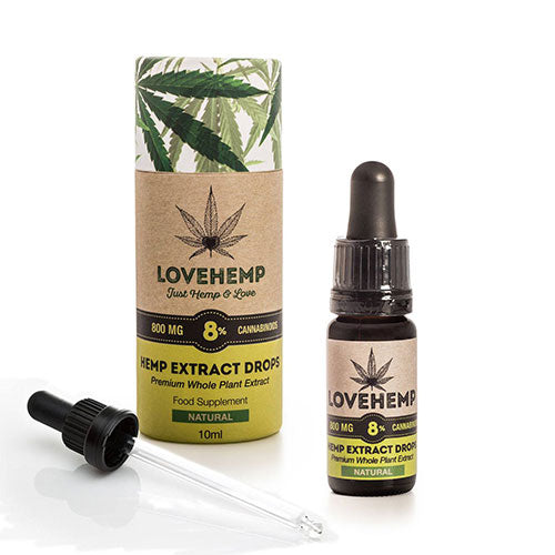 Love Hemp CBD Oil Drops Natural