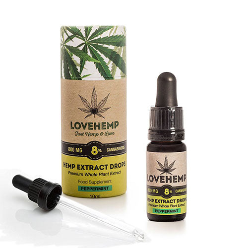 Love Hemp CBD Oil Drops Peppermint