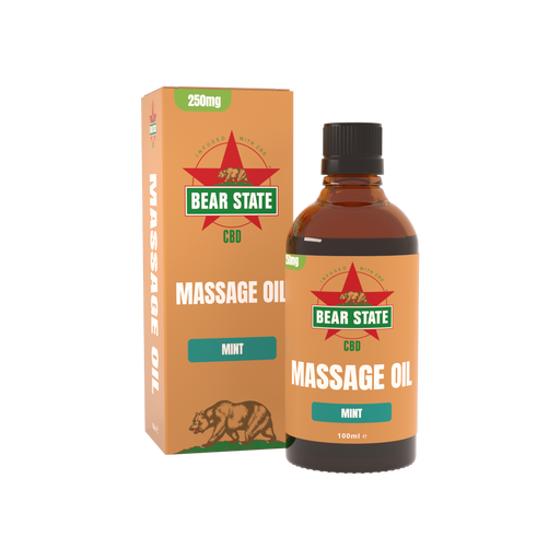 Bear State CBD Full Spectrum Mint Massage Oil